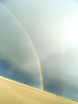 Regenbogen an der Nordsee