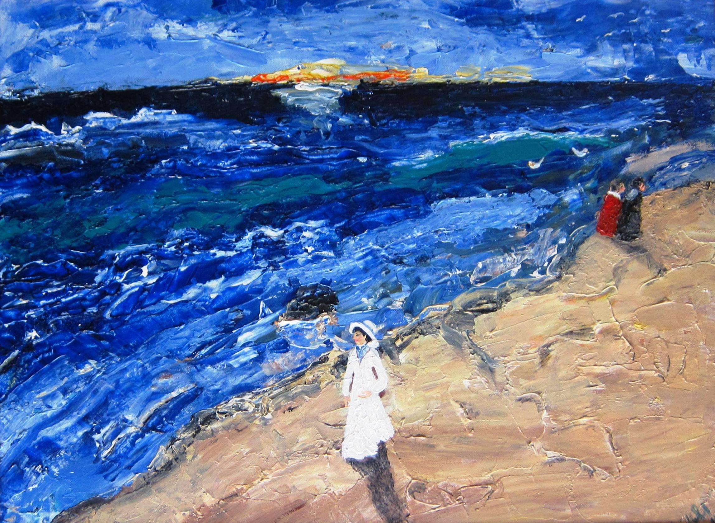 Frau am Meer 2014