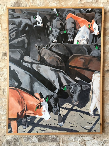 SOLD Vertical Cowpen With Green Tags