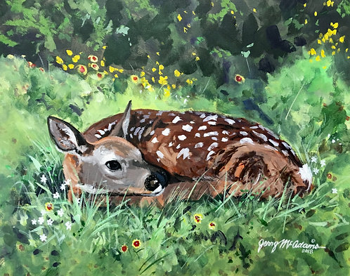 "SOLD, SOLD, SOLD ""Fawn Near Hico, Texas"""