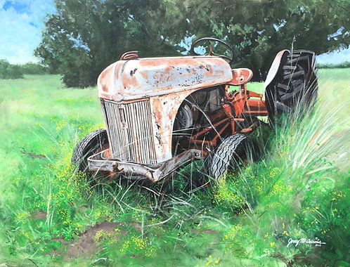 """GICLEE PRINT """"Daddy's Tractor"""""""