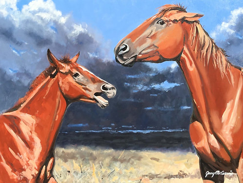"""SOLD """"Arguing Up A Storm""""  SOLD"""