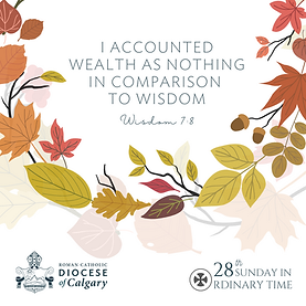 I accounted wealth as nothing in comparison to wisdom.