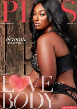 Cover Model for Plus Model Magazine