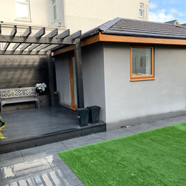 Beautiful decking and Grass