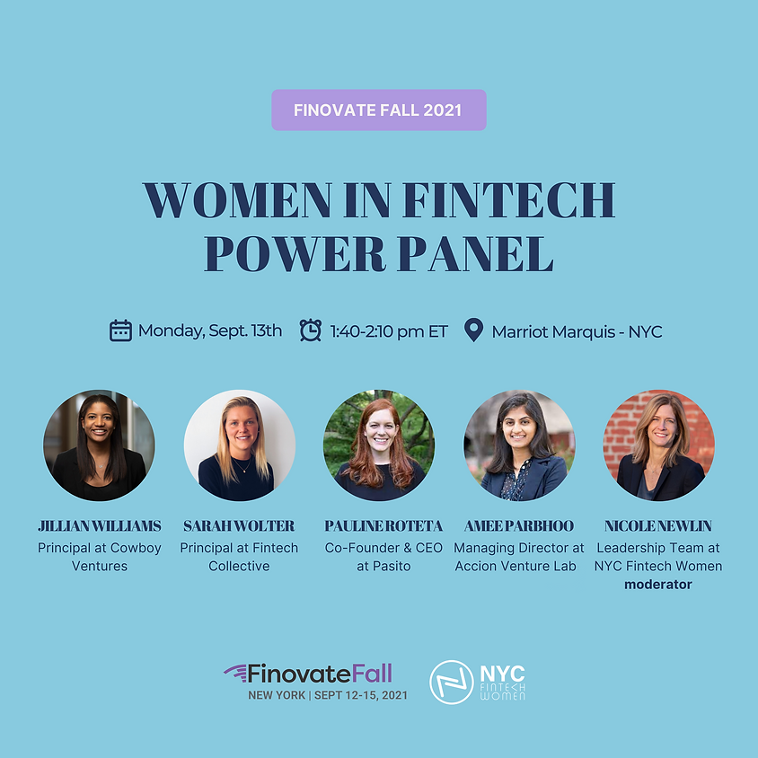 Finovate Fall: Women in FinTech Power Panel