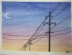 Sunset painting
