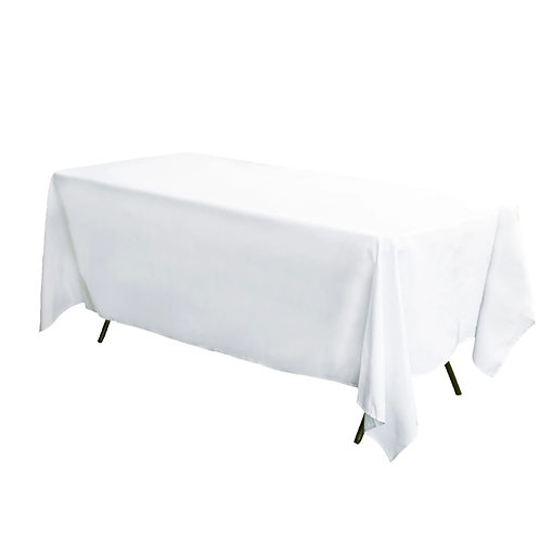 White Trestle Table Cloth