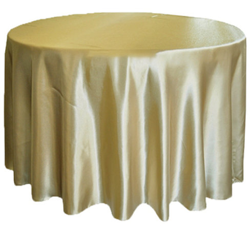 Champagne Satin Table Cloths