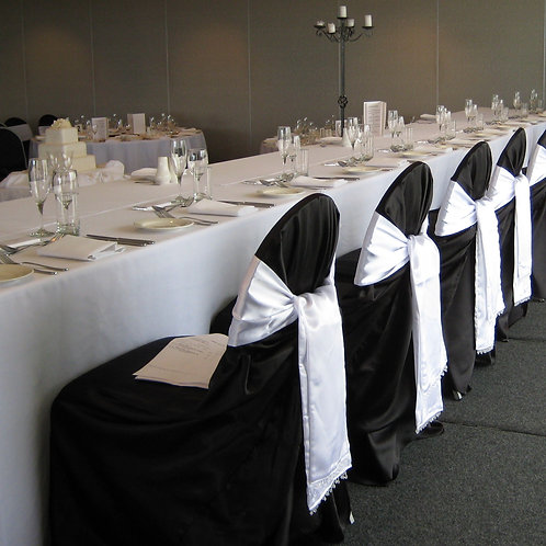 Black Tieback Chair Covers