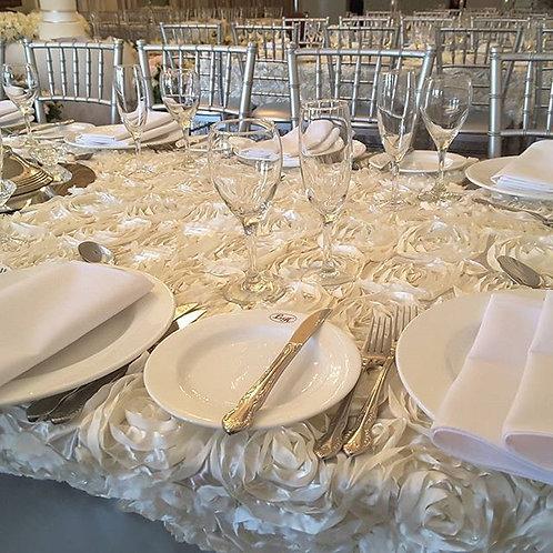 Ivory / Cream Rosette Table Cloth