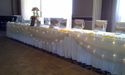 Bridal Table Draping with fairylights