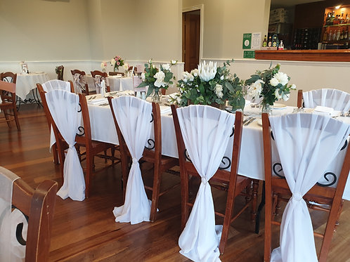 White Chair Hoods with Buckle