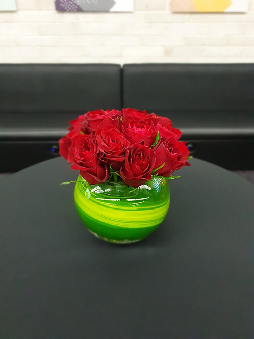 Red Rose in Fishbowl