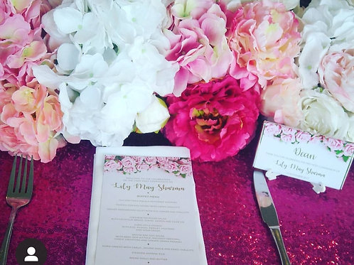 Hot Pink Sequin Table Cloth