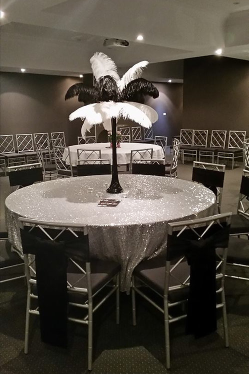 Silver Sequin Table Cloth