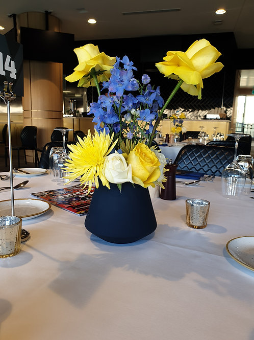 Blue and Yellow Arrangements