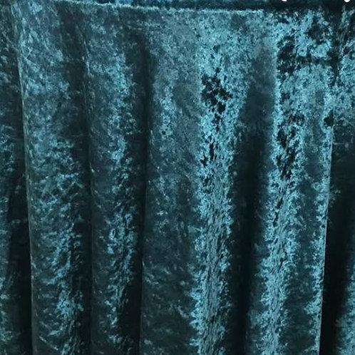 Teal Velvet Table Cloth