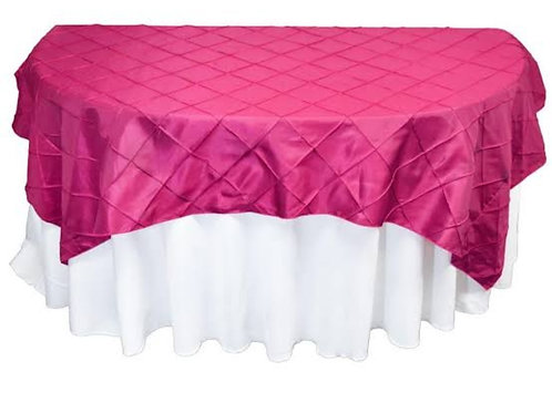 Hot Pink Pintuck Table Cloths