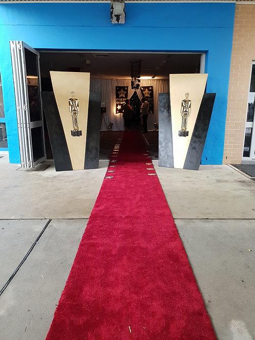 Hollywood Entrance - Red Caret 2 x Bandstand Props