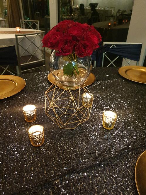 Gold Hexagon Lantern/Vase