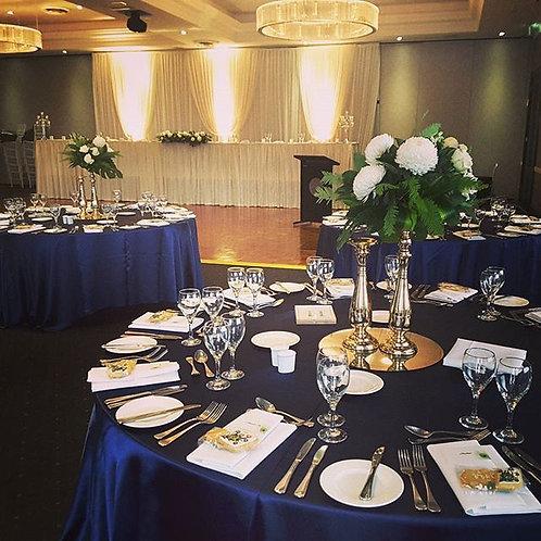 Navy Satin Table Cloth