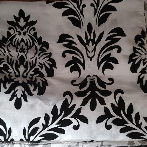 White with Black Demask Print Runner