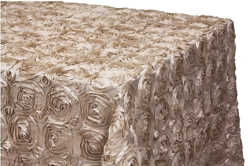 Champagne/Gold Rosette Table Cloths