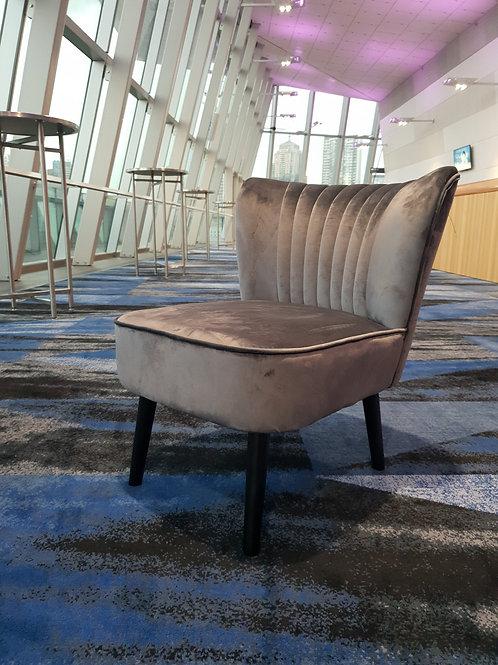 Charcoal Velvet Chair