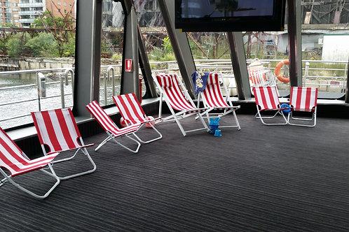 Beach Chair (Small) Red & White