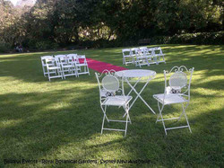 Dainty Signage Chairs