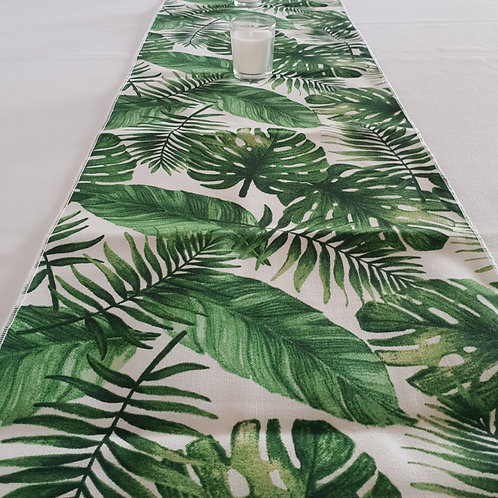 Tropical Runner Green Palm Runner