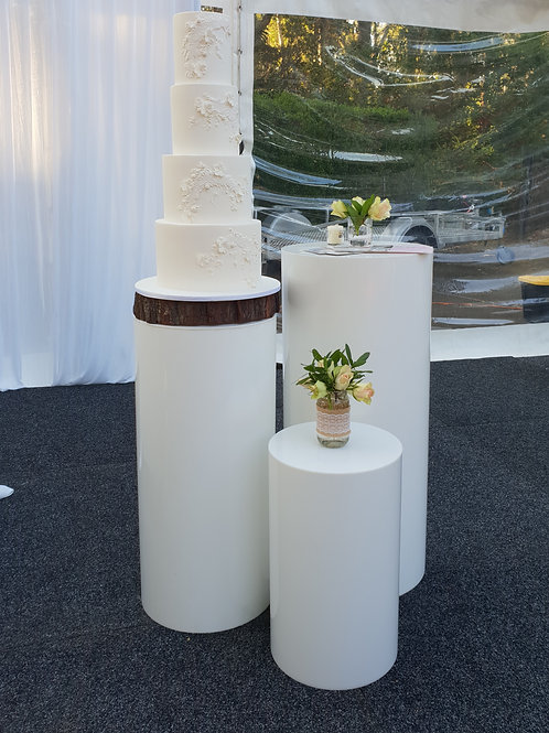 White Round Plinth 50cm, 70cm & 90cm