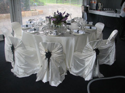 Black Floral Clips for Tieback Chair Covers
