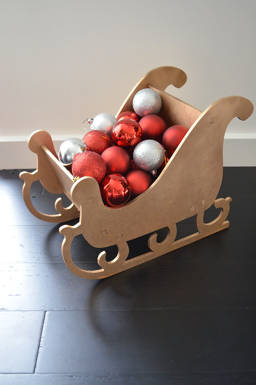 Christmas Sleigh Red or Gold