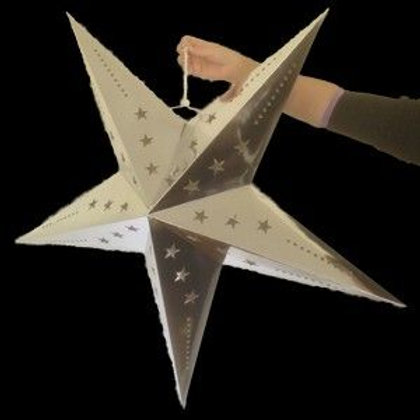 Silver LED Star (Large)