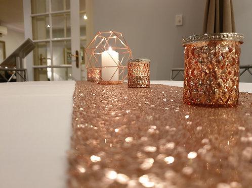 Rose Gold Hexagon Lantern/Vase