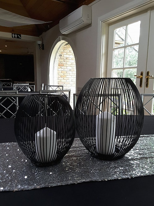 Black Wire Lantern Duo