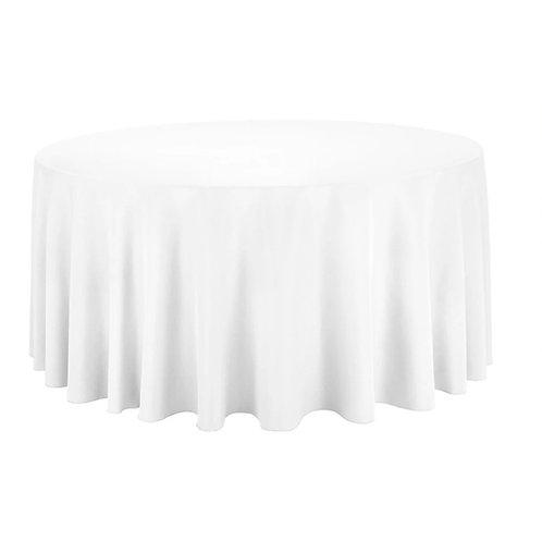 White Round Table Cloth
