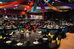 Colourful Draping and Chair Covers