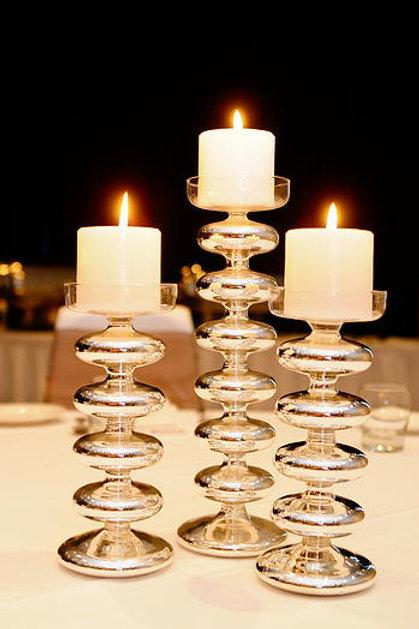 Silver Mercury Candle Sticks