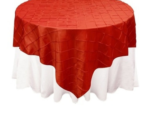 Red Pintuck Table Cloth