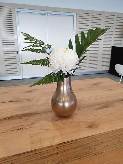 Gold Bulb Vase