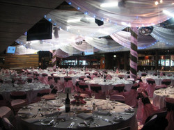 Charity Fundraiser Roof Draping and Chair Covers