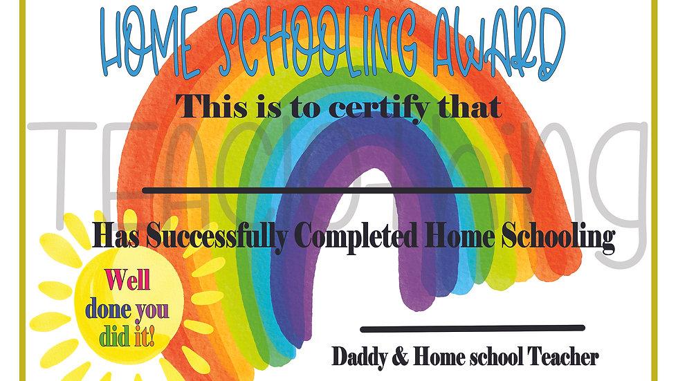 Home Schooling Award - Daddy