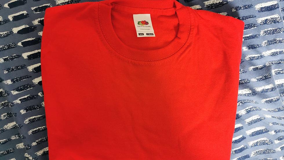 Child's Red T-Shirt 5-6years