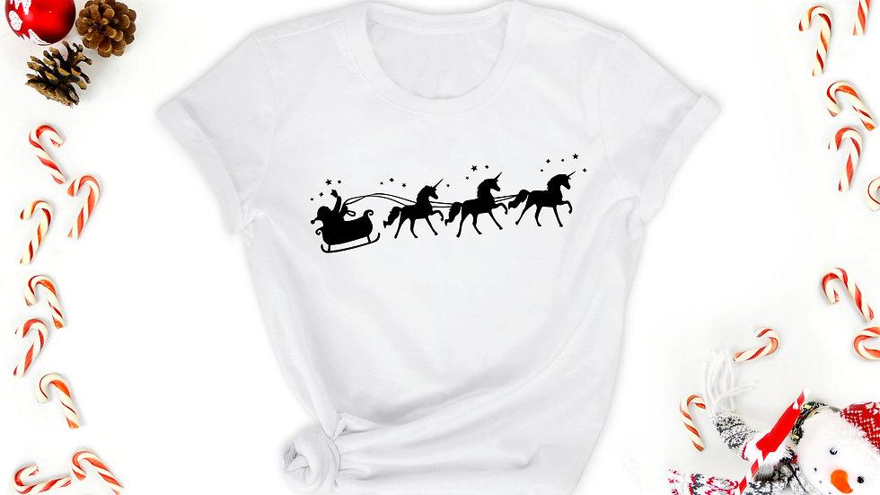 Unicorn Sleigh Tshirt