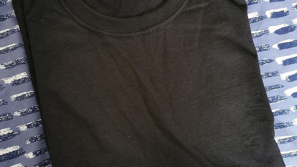 Child's Black T-Shirt 7-8 years