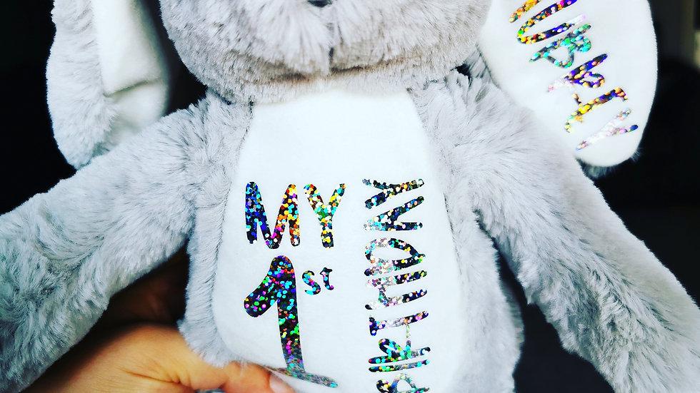 Customised Grey Bunny