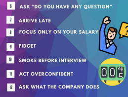Top 15 Don'ts of Job Interview